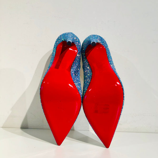 SOLD Christian Louboutin So Kate Glitter Dragonfly Pump