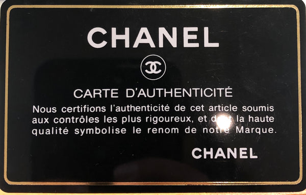 Chanel Flap Bag Brown Authentication Card