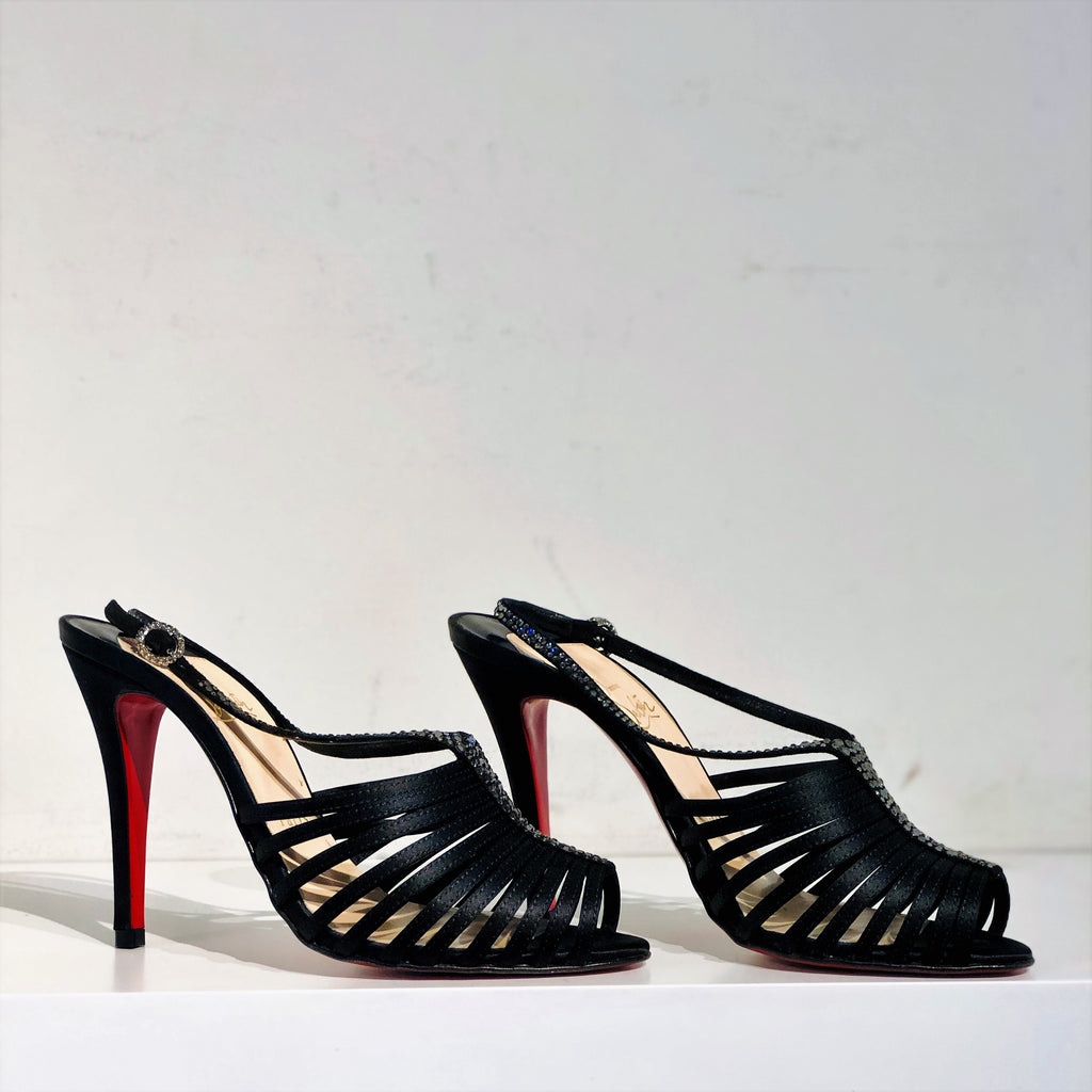 SOLD Christian Louboutin Bretelle Satin Heels