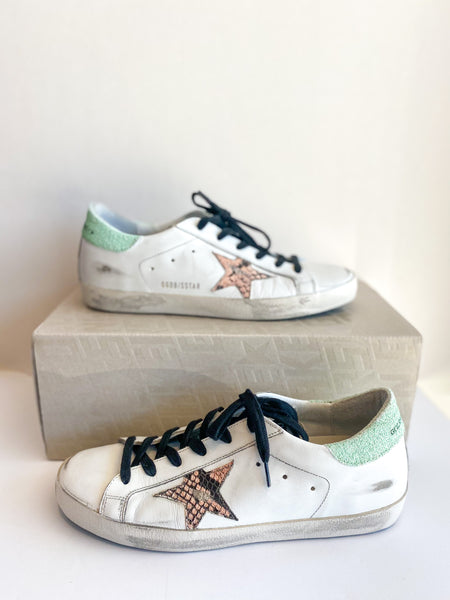 Golden Goose Super Star Mint Snakeskin