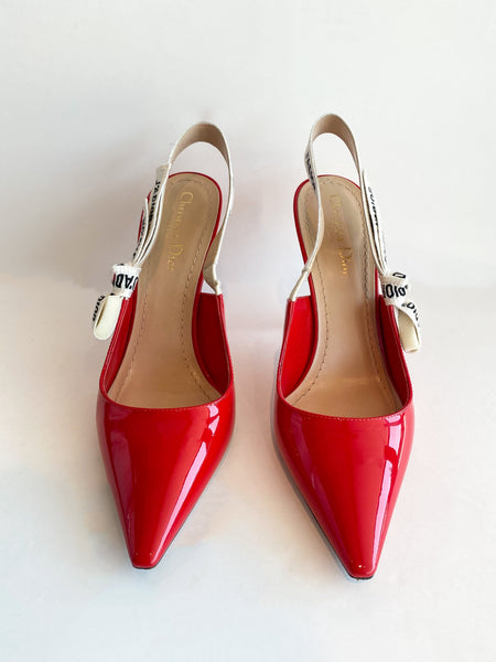 Dior J'Adior Heels Red Front of Heels