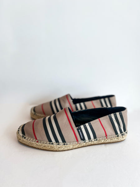 Burberry Alport Stripe Espadrille Side