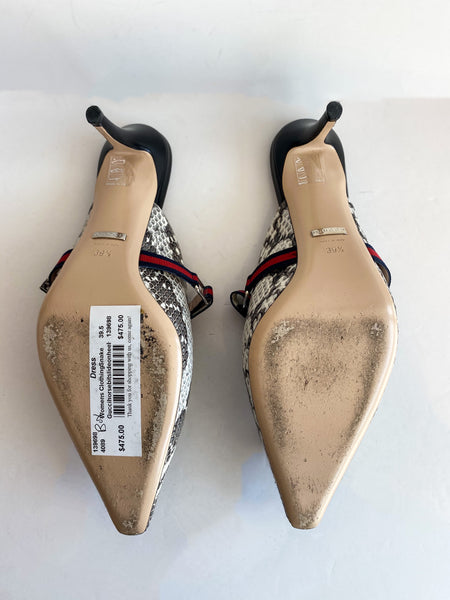 Gucci Snakeskin Heels Bottom of Shoes