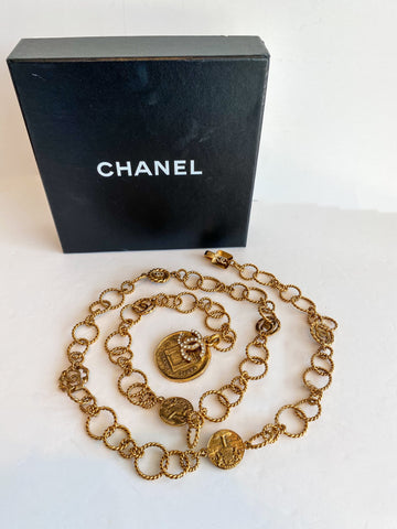 Chanel Chain Belt Gold with Box