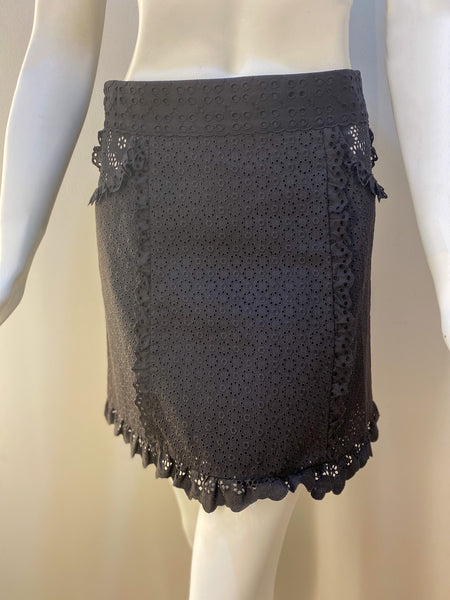 Louis Vuitton Lace Skirt Brown Front of Skirt