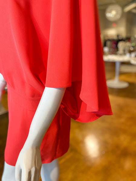 Gucci Cape Sleeve Dress Coral Sleeve Detail