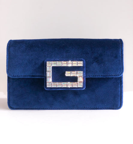 Gucci Broadway Mini Velvet Bag Front of Bag