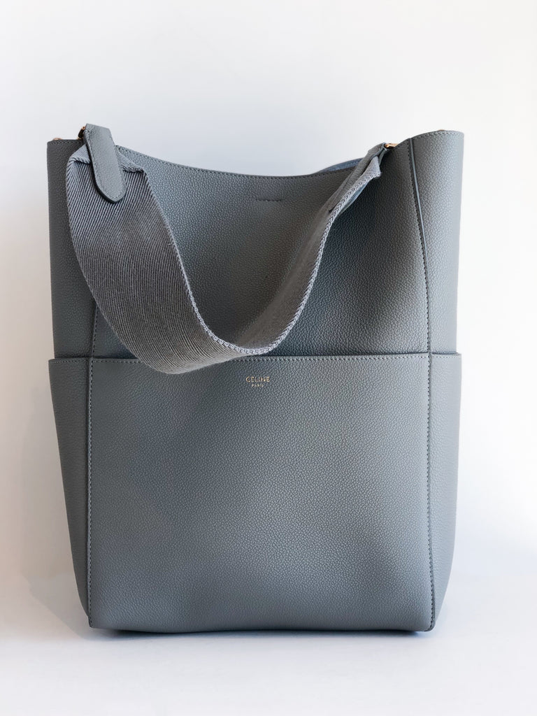 Celine Sangle Bucket Bag Gray