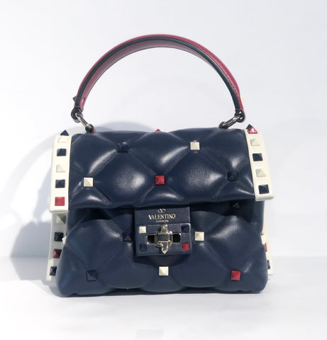 Valentine Navy Candy Stud Bag