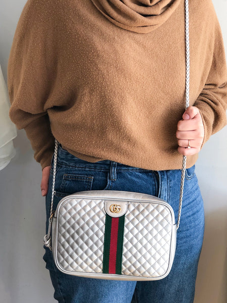 Gucci Small Quilted Ophidia Camera Crossbody