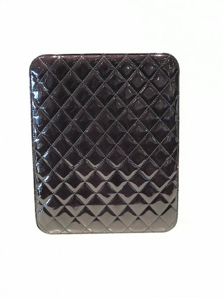 Chanel Patent Quilted Ipad/Tablet Case