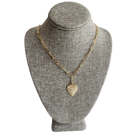 Farrah B Gold Heart Necklace