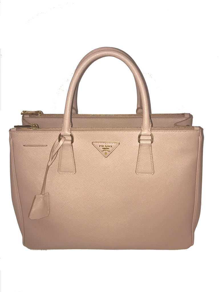 SOLD - Prada Saffiano Lux Small Double Zip Tote Bag
