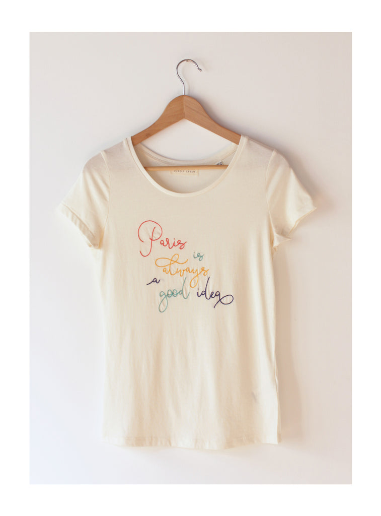 TSHIRT FEMME - PARIS IS ALWAYS A GOOD IDEA