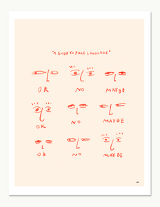 A Guide To Face Language Print