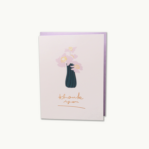 Vase Thank You Card