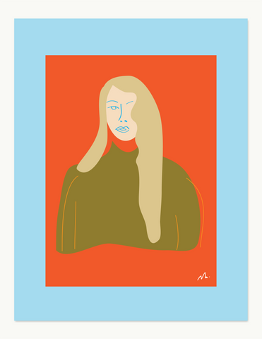 Woman Portrait nº2 Print