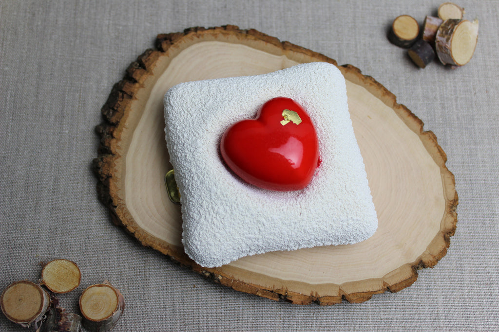 Heart Mousse Cushion - White