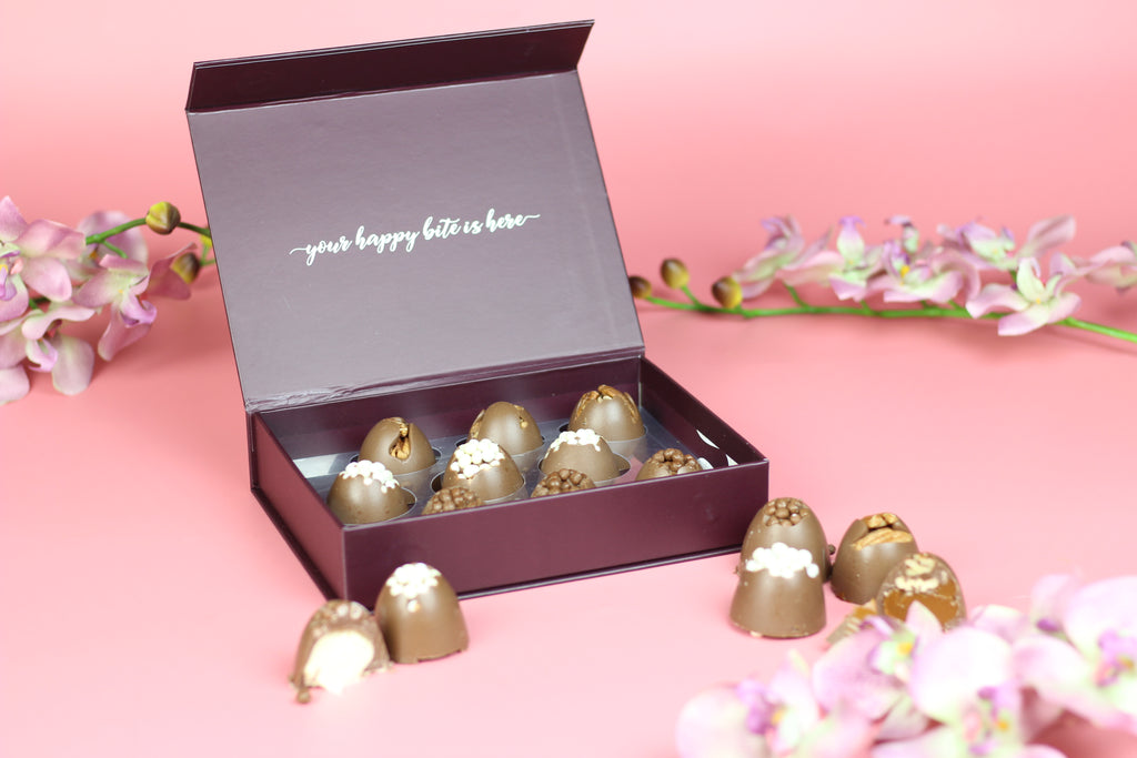Chocolate Cluster Truffle Box 9 pc - DAIRY