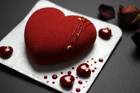 Plated Heart Dessert - Large