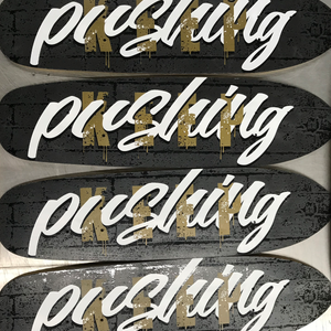 Keep Pushing Custom Skate Deck