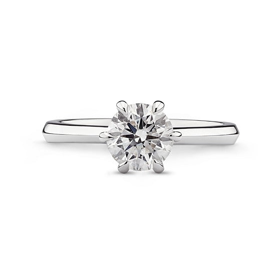 round brilliant cut diamond solitaire engagement ring GIA certified W Taranto jewellers Sydney jeweller