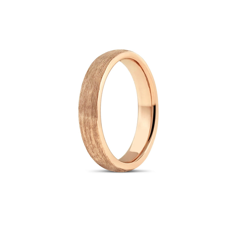 TEXTURED BAND IN 18K ROSE GOLD