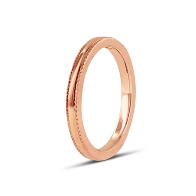 MILGRAIN BAND IN 18K ROSE GOLD 2.30MM