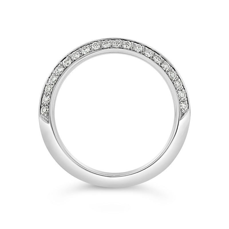KNIFE EDGE PAVÉ DIAMOND BAND IN 18K WHITE GOLD