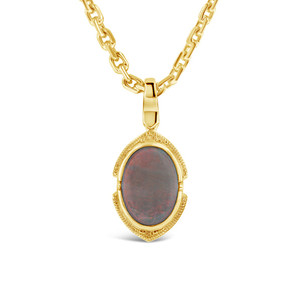 opal pendant in 9ct yellow gold