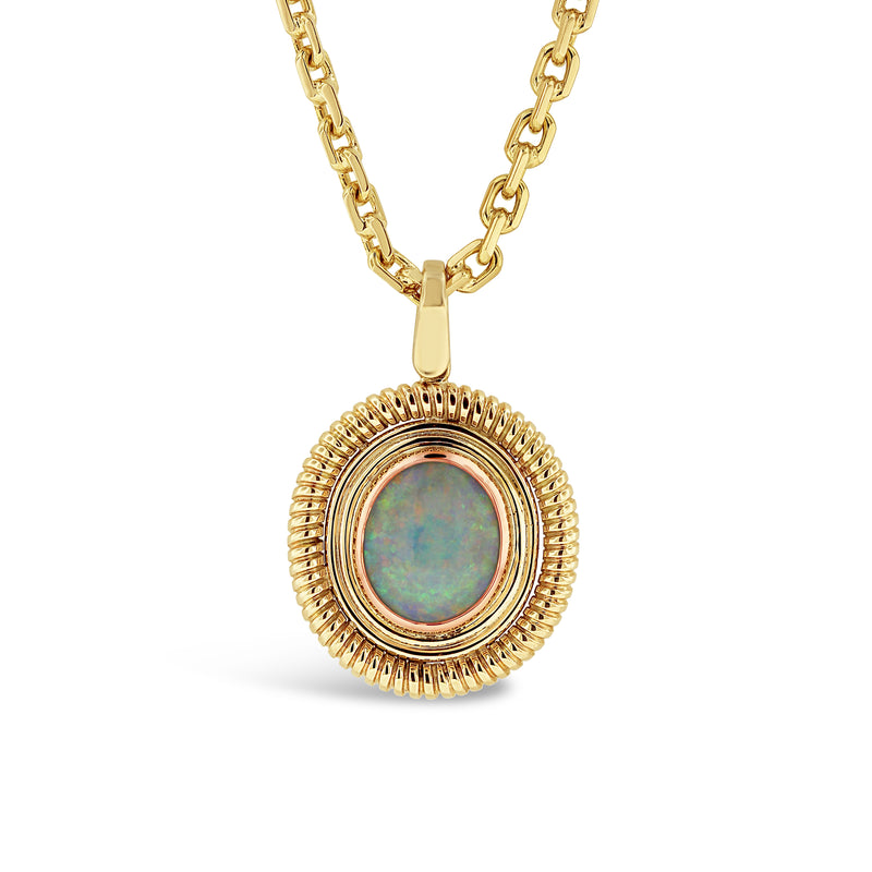 OPAL PENDANT IN 9K YELLOW GOLD