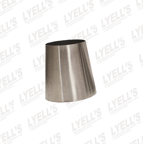 "3"" to 4"" x 4"" long - Concentric Tube Reducers - Lyell's Stainless Exhaust Inc., Mandrel Bending Ontario"