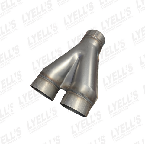 "Y Pipe: 4"" - 4"" Dual 409 Stainless - Lyell's Stainless Exhaust Inc., Mandrel Bending Ontario"