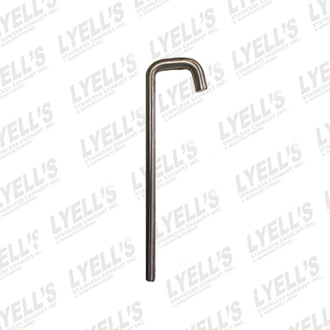 "½"" J Hook - 304 Stainless Steel - Lyell's Stainless Exhaust Inc., Mandrel Bending Ontario"