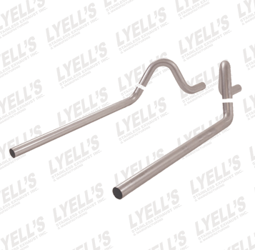 "2½"" 409 Stainless Steel '55-'57 GM Sedan Tailpipes - Lyell's Stainless Exhaust Inc., Mandrel Bending Ontario"