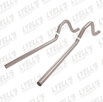 "2½"" 409 Stainless Steel '62-'74 Mopar B Body Tailpipes - Lyell's Stainless Exhaust Inc., Mandrel Bending Ontario"