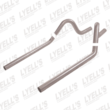 "2½"" 409 Stainless Steel '68-'73 Mustang/Cougar (Non-Staggered Shock) Tailpipes (Under Valance) - Lyell's Stainless Exhaust Inc., Mandrel Bending Ontario"