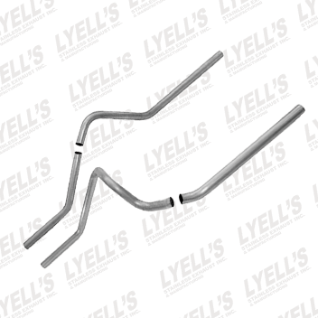 "2½"" Aluminized Universal Truck Dual Tailpipe - Lyell's Stainless Exhaust Inc., Mandrel Bending Ontario"