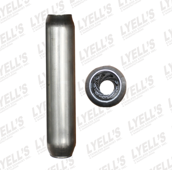 "2½"" Blank Aluminized - 24"" Length - Lyell's Stainless Exhaust Inc., Mandrel Bending Ontario"