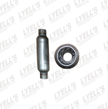"1¾"" 409 Stainless Steel Resonator w/ Necks - 12"" Length - Lyell's Stainless Exhaust Inc., Mandrel Bending Ontario"