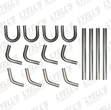 "Hot Rod Kit - 2¼"" 409 Stainless Steel - Lyell's Stainless Exhaust Inc., Mandrel Bending Ontario"