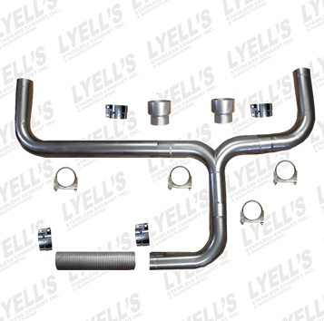 Dual Universal Stack Kit - Lyell's Stainless Exhaust Inc., Mandrel Bending Ontario