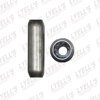 "2¼"" Blank Aluminized - 12"" Length - Lyell's Stainless Exhaust Inc., Mandrel Bending Ontario"