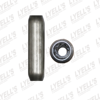 "2¼"" Blank Aluminized - 16"" Length - Lyell's Stainless Exhaust Inc., Mandrel Bending Ontario"