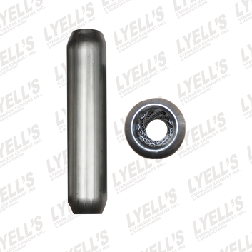 "2½"" Blank 409 Stainless Steel - 20"" Length - Lyell's Stainless Exhaust Inc., Mandrel Bending Ontario"