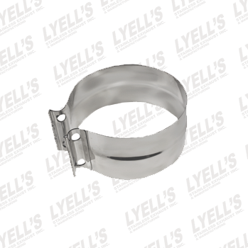 "6"" Torctite PF Lap Joint Clamp - Stainless Steel - Lyell's Stainless Exhaust Inc., Mandrel Bending Ontario"