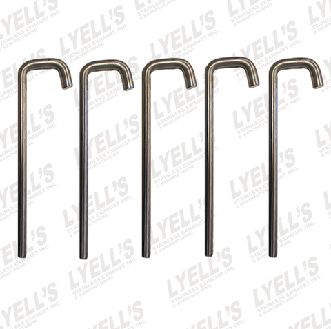 "⅜"" J Hook - 10"" Long - 304 Stainless Steel - PACK OF 5 - Lyell's Stainless Exhaust Inc., Mandrel Bending Ontario"