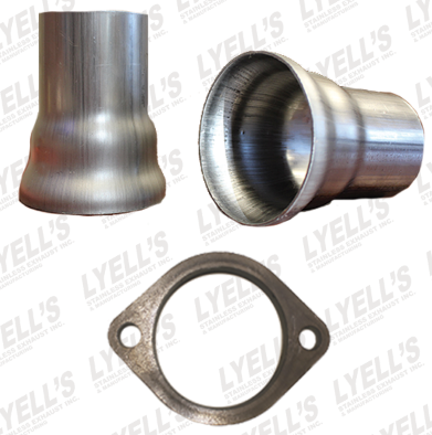 "3"" Ball Header Collectors Kit  - 2½ OD:  2 Hole Flange - Lyell's Stainless Exhaust Inc., Mandrel Bending Ontario"
