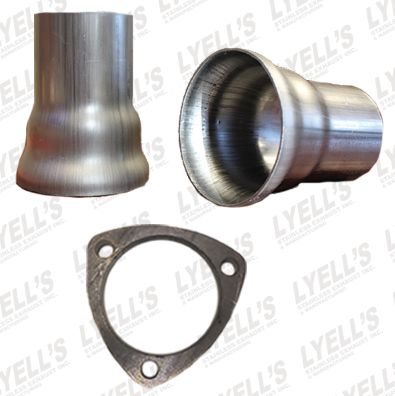 "3"" Ball Header Collectors Kit - 2½ OD:  3 Hole Flange - Lyell's Stainless Exhaust Inc., Mandrel Bending Ontario"