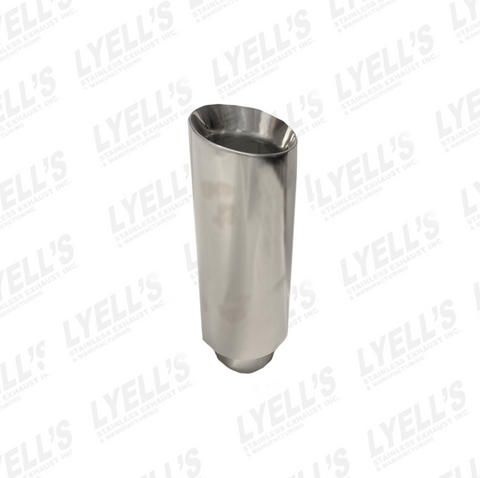 "4"" OD Round - 3'' Inlet 12'' Long - T304 SS Polished"